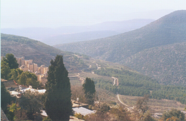 The View Looking West from Tzfat - click for info on Volunteer opportunities in Israel